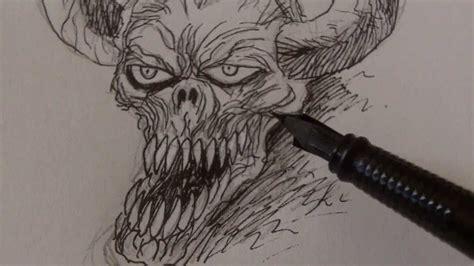 draw demon skulls youtube