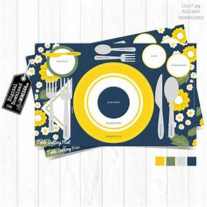 Free Christmas Table Setting Placemat 11x17