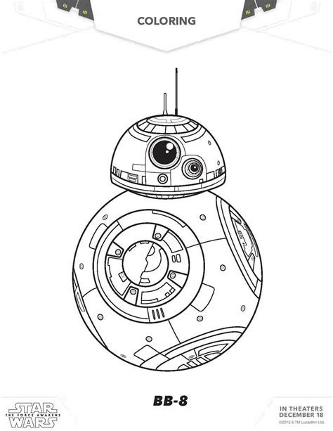 star wars coloring pages  force awakens coloring pages