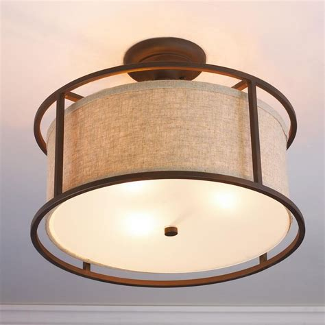 springfield drum shade semi flush ceiling light available