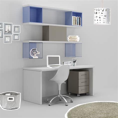 bureau avec rangements cuisine bureau ado avec coffre de rangement gris