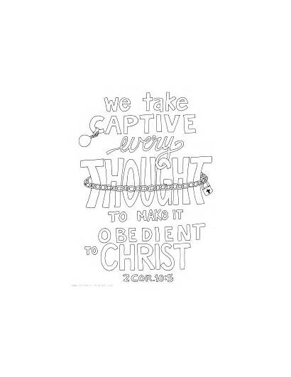 Scripture Coloring Bible Captive Thought Every Take