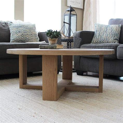 At your doorstep faster than ever. Round All Wood White Oak Coffee Table, Modern Solid Wood | Oak coffee table, Coffee table frame ...