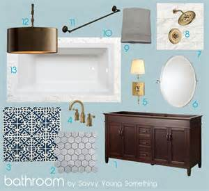 sarah bridger design mood board gray gold aqua bathroom
