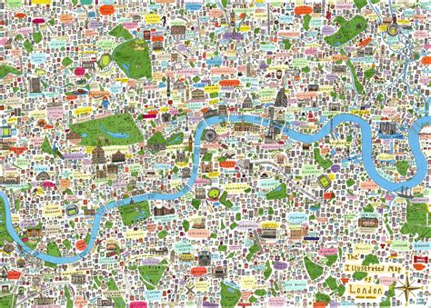 beautiful illustrated maps  london posters  prints