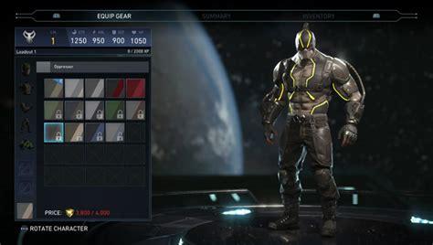 injustice   skins shaders alternate costumes showcased