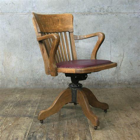 vintage oak swivel desk chair mustard vintage