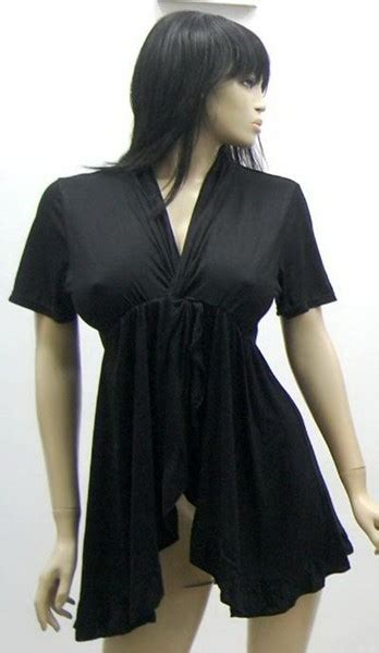 Blouse Olla Jersy cross ruffled jersey blouse top