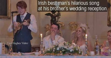 An Irish Best Man Stole The Show At His Brother's Wedding