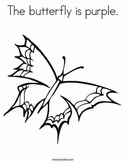 Purple Coloring Butterfly Sheet Worksheet Handwriting Caterpillar