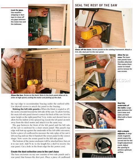 table  dust collection woodarchivist