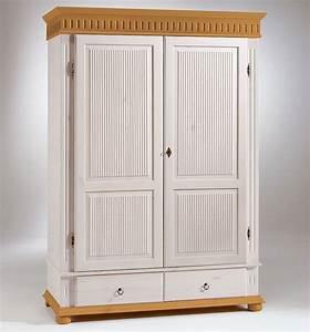 Kleiderschrank Antik Weiß : kleiderschrank 2 t rig xl wei antik kiefer massiv poarta ~ Frokenaadalensverden.com Haus und Dekorationen