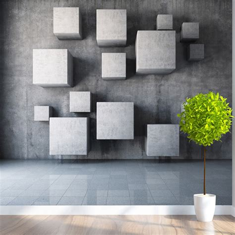 customized  size modern  stereoscopic geometry wall