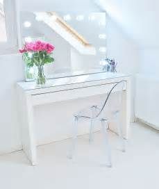 makeup storage ideas ikea malm makeup vanity with mirror