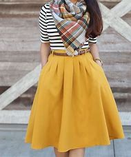 Mustard Yellow Skirt Outfit