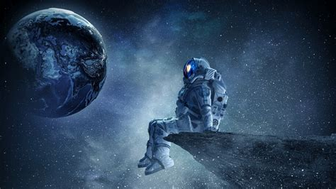 Available in hd, 4k resolutions for desktop & mobile phones. Astronaut, Outer Space, Stars, Planet, 4K, #4.26 Wallpaper