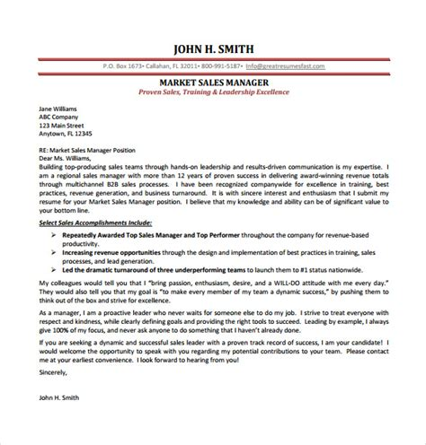 Cover Letter For Application Sales And Marketing by Sales Cover Letter Template 8 Free Word Pdf Documents