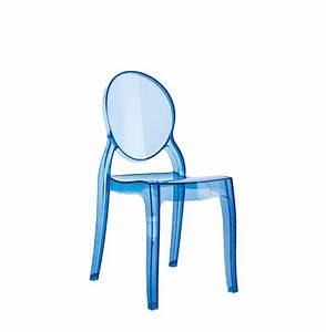 Chaise Plastique Transparente : chaise pour enfant kids bleue transparente en mati re plastique ~ Melissatoandfro.com Idées de Décoration