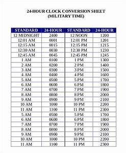 24 Hour Clock Chart Military Time Conversion Chart 11 Free Pdf Documents