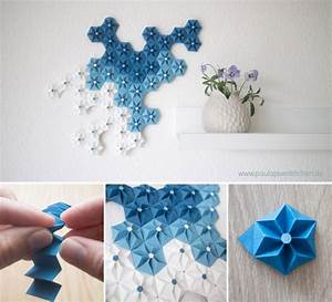 Beautiful DIY Origami Flowers To Decorate Your Wall : Wall