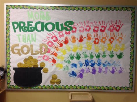 St. Patrick's Day Preschool Bulletin Board