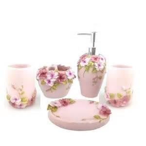 pink and leopard bathroom set image mag