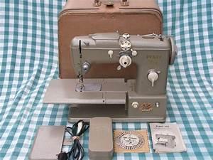 Nice Vintage Pfaff 332 Sewing Machine With Case Manual
