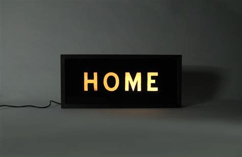hand painted home vintage wooden lightbox light up