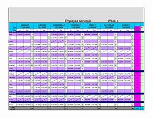 8 best images of excel chart hourly scheduling template for Hourly employee schedule template