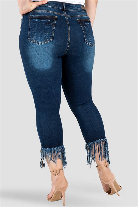 standards practices  size standards practices womens laura frayed distressed indigo