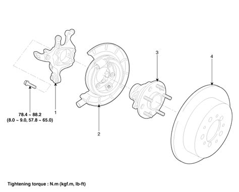 rear wheel bearinghub assembly torque hyundai forums
