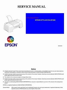 Epson Stylus Color 480 Service Manual