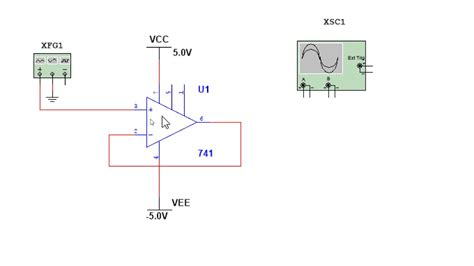 Amp Buffer Circuit Simulation Multisim Youtube