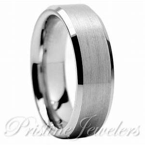 tungsten carbide wedding band ring brushed silver mens With mens brushed wedding rings
