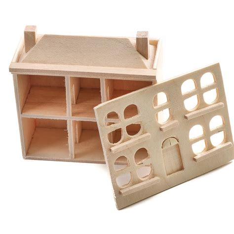 miniature unfinished wood dollhouse wood miniatures