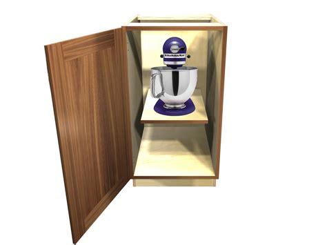 kitchen cabinet mixer lift 1 door base cabinet with heavy duty mixer lift
