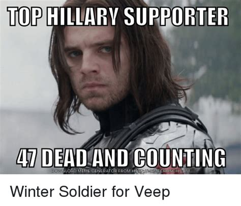 Funny Meme Maker - top hillary supporter 4 dead and counting ownload meme generator from http ecrunch comm winter