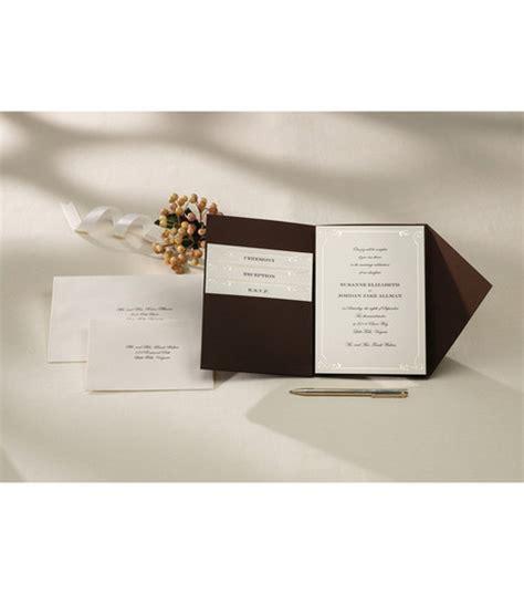 wilton  ct vintage ivory pocket invitation kit jo ann