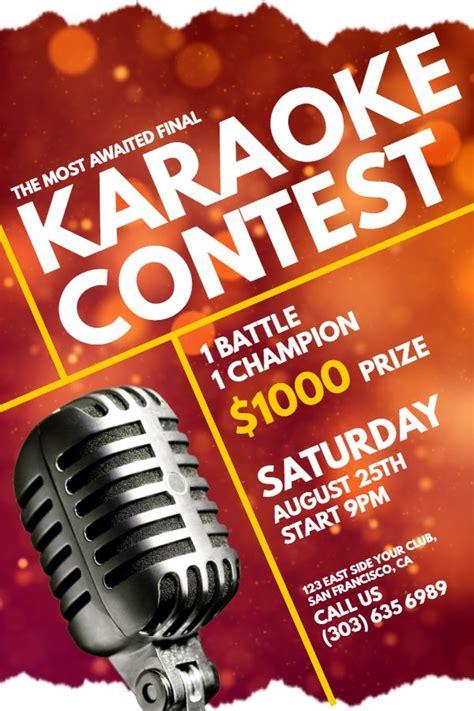 karaoke contest flyer idea click  customize contest