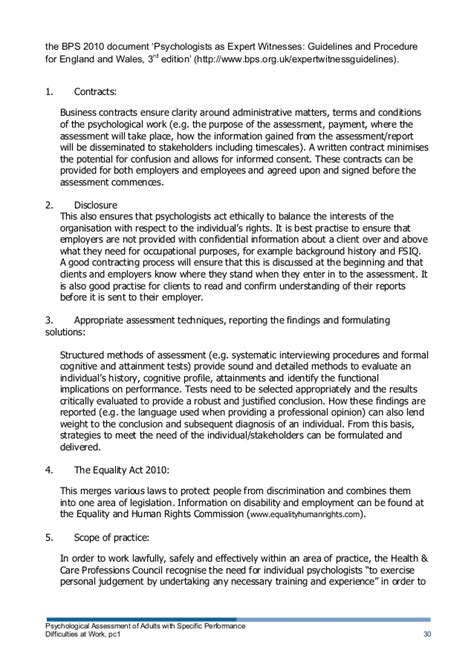 psychological assessment  adults  specific
