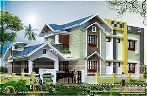 2401 Square Feet Nice House Renderings Kerala Home