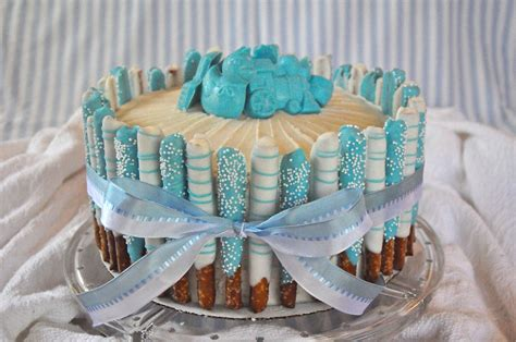 Cake Decoration Ideas For Boy by I Think I Could Do That Blue Baby Boy Shower Cake
