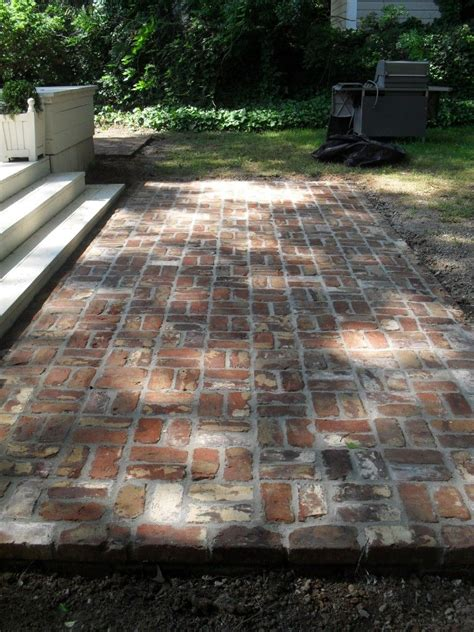 Brick Patio by Reclaimed Brick Patio Reminder To Reuse The Bricks From