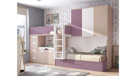 chambre avec lit superposé lit superposé fille personnalisable lit gigogne