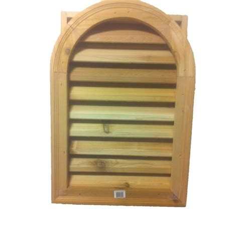 cedar gable vents al s millworks 16 in x 24 in cedar wood arch top gable 2031