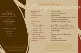 wedding program wording sles sle 50th wedding anniversary invitations wedding