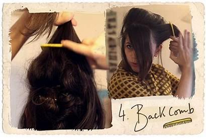 Beehive Messy Tutorial Hair Carrie Backcombing