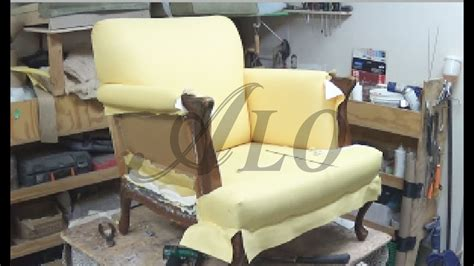 How To Reupholster The Arm And Back Of A Chair