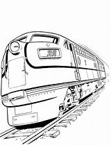 Train Coloring Pages Diesel Railroad Locomotive Crossing Drawing Truck Freight Sketch Template Templates Bullet Clipartmag Getcolorings Printable sketch template