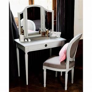 Miroir De Coiffeuse : coiffeuse en bois eugenie comptoir de famille meubles pas cher comptoir de famille mobilier ~ Teatrodelosmanantiales.com Idées de Décoration